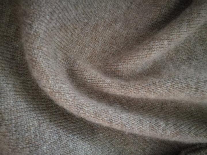 恒源祥女士羊绒衫纯羊绒套头毛衣保暖半高领修身毛衫女装 2601半高领-藏青 160/S(100斤左右) 晒单图