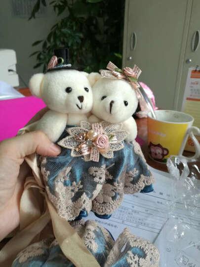 俏亿家(QiaoYiJia) 欧式卡通小熊窗帘扣窗帘绑带 韩国可爱创意窗帘夹窗帘扣环花一对 一对-蓝色 晒单图
