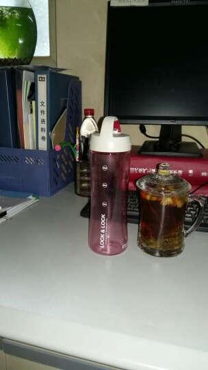 乐扣乐扣水杯600ml PC运动茶杯 过滤网茶隔水杯子 HLC802T 粉色 晒单图