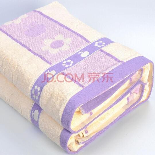 馨欣家纺 全棉毛巾被 空调被三层纱布毯子 纯棉单双人空调盖毯 自营学生卡通毯 床单 玫瑰驼色 150X200CM 晒单图