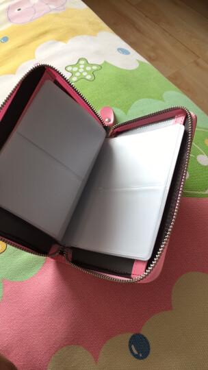 奥菲姆(OFLM)卡包女 牛皮40卡位名片卡夹卡片包男 拉链护照包驾驶证皮套卡套KB-40 粉红色 晒单图