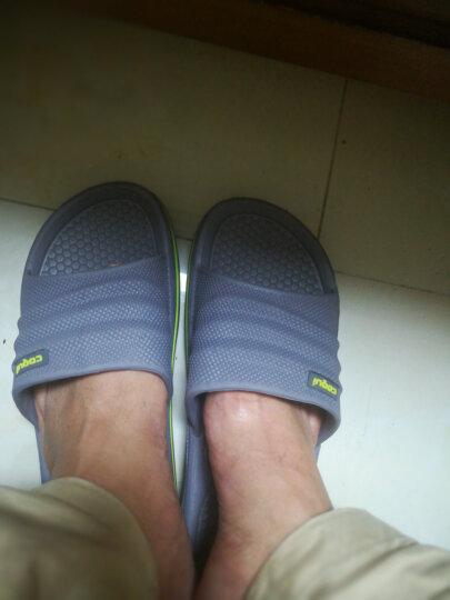 酷趣(Coqui)夏季拖鞋 情侣凉拖鞋浴室拖鞋 7922 男款7922碳灰色 42/43(适合42-43脚) 晒单图
