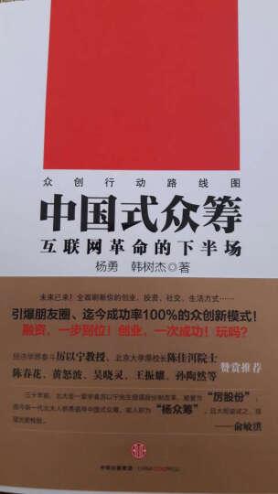 中国式众筹(互联网革命的下半场) 杨勇 韩树杰著 互联网革命 众筹 赢在众筹之路 晒单图