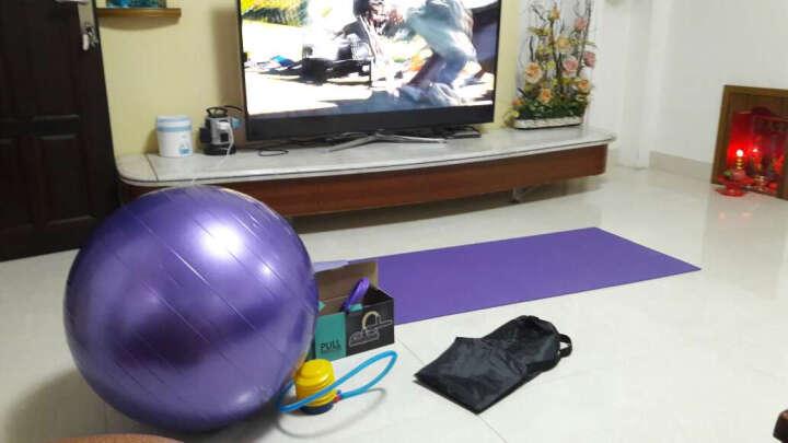翔游瑜伽套装6毫米瑜伽垫65厘米瑜伽球 脚蹬拉力绳瑜伽砖弹力带瑜伽铺巾(带气筒瑜伽包) 天空蓝瑜伽套装 晒单图