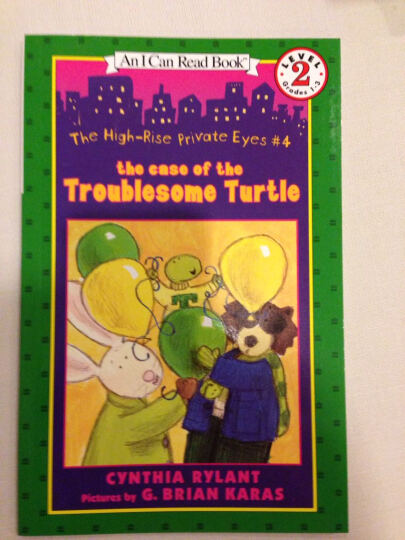 The High-Rise Private Eyes #4: The Case of the Troublesome Turtle (I Can Read, Level 2) 晒单图