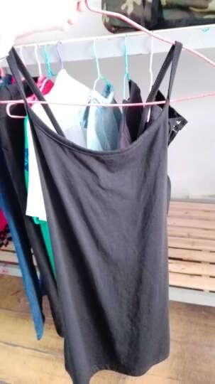 嘉德利亚兰背心女小吊带2018春夏装新款工字背韩版打底修身纯色棉 白色 M码 晒单图