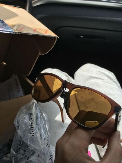 OAKLEY欧克利太阳镜男女款 Frogskins休闲系列眼镜 OO9245-04 棕色镜框金色镀膜镜片墨镜 晒单图