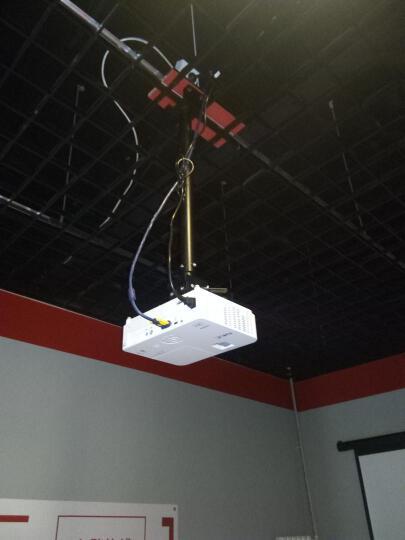 宏影(HONGYING)投影仪吊架吊顶支架家用投影机伸缩固定吊架通用地投爱普生明基索尼投影调节架子 HY-GT1.5米黑色 晒单图