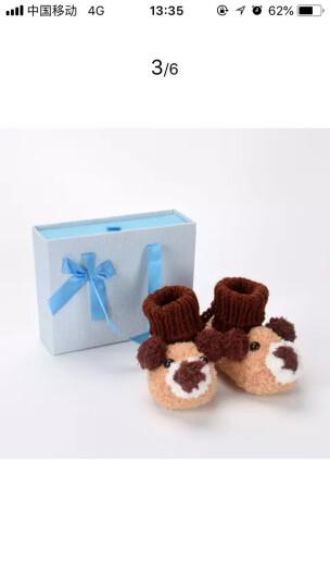 Yamilan 婴儿手工编织鞋 冬季加厚保暖 宝宝毛线鞋袜 可爱地板袜 卡其色-小狗款 0-12个月/脚长12.5厘米以内 晒单图