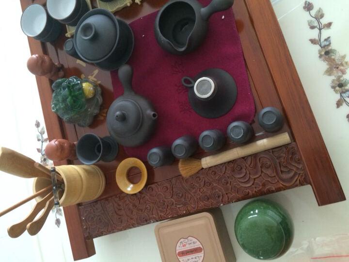 辉跃青花茶具 紫砂功夫茶具套装陶瓷青瓷整套冰裂茶具壶电磁炉实木茶盘四合一托盘 款四侧把壶内白载物原木色399 晒单图