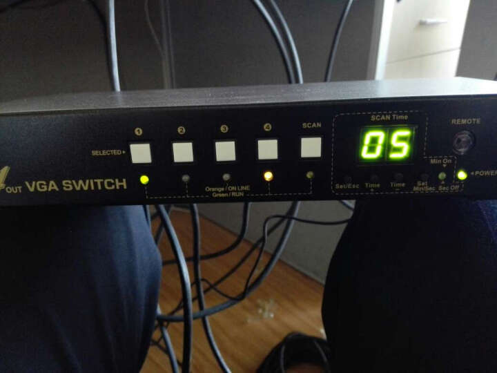 CKL VGA切换器4进4出 自动扫描跟踪定时切换遥控工业级支持RS232串口远端控制 444R 晒单图