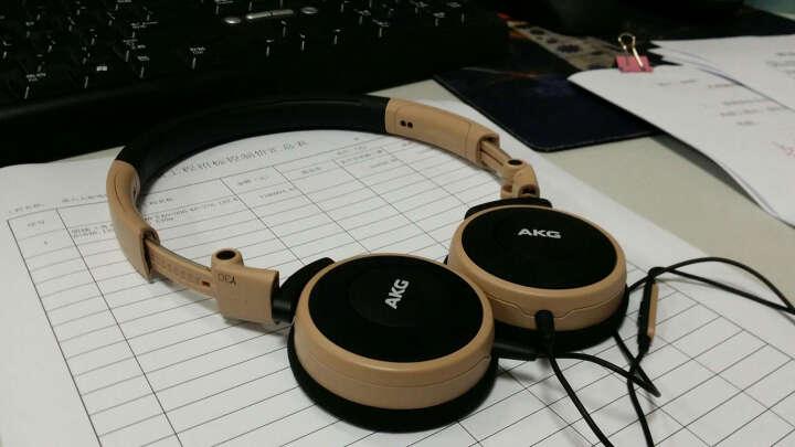 爱科技(AKG)K420LE 耳机头戴式 折叠便携式音乐耳机 通用 重低音手机耳机 浅蓝色 晒单图