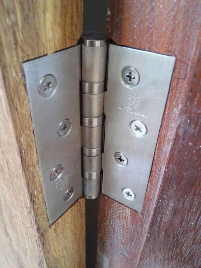 樱花(y-hua)现代简约不锈钢门锁室内卧室房门锁具三件套B6631(TB-07)) 经典银+4*3*3合页2片+1816银色门吸1个 晒单图