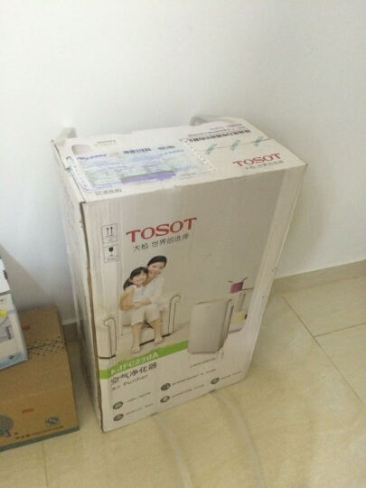 大松(TOSOT)空气净化器家用除雾霾灰尘PM2.5除烟无耗材KJ200F-A01 白色 晒单图