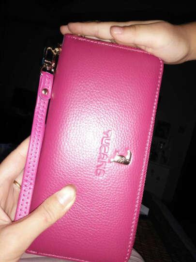 啄木鸟(TUCANO)女式包包 女士钱包长款牛皮 粉色手拿包手抓包大容量 韩版女包 1242米白 晒单图