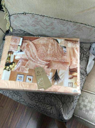 优蒙家纺 全棉婚庆镂空贡缎提花四件套加大双人床单被套床上用品 西莱斯特 1.8米床用 晒单图