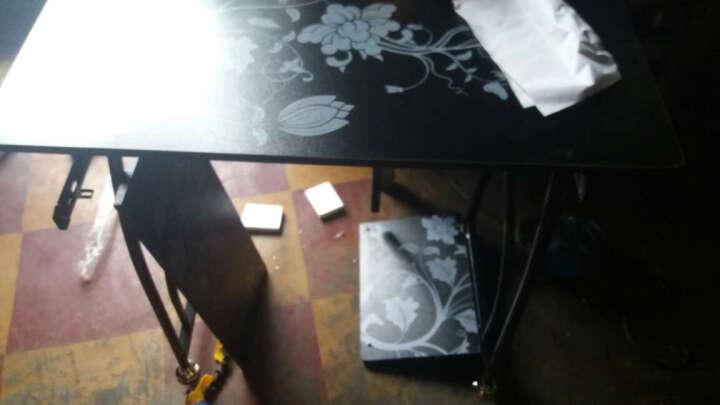 简约台式电脑桌办公桌子 学生写字小书桌彩绘钢琴面电脑台 时尚 家用 全板材胡桃色 晒单图
