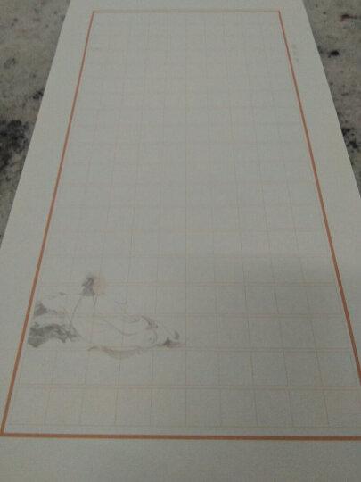 木板水印信笺 半生熟皮纸小楷写经抄经用宣纸 文房四宝小楷毛笔用纸 中号方格高士 晒单图