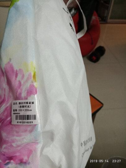 堂皇 被芯家纺 压花夏凉被 可水洗薄被子 时尚空调被 粉色夏被 1.2米床 150*200cm 晒单图