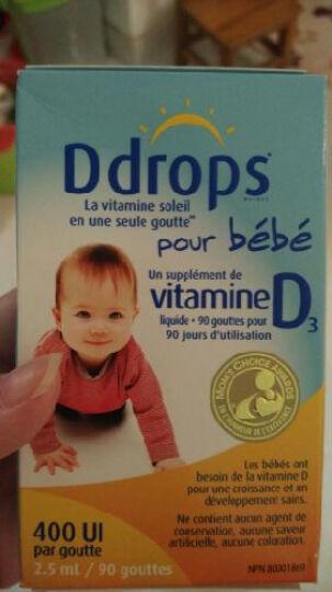 Ddrops baby婴幼儿童宝宝维生素D3滴剂 0岁以上 2.5ml 90滴 400IU 两盒 晒单图