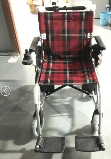 吉芮电动轮椅 老年残疾人电动代步车 轻便可折叠JRWD602 HBLD1-E 晒单图