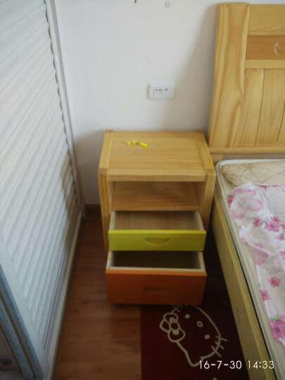 陌兰实木床头柜迷你床边柜小户型现代简约卧室床头桌松木抽屉式储物柜 大号彩色 晒单图