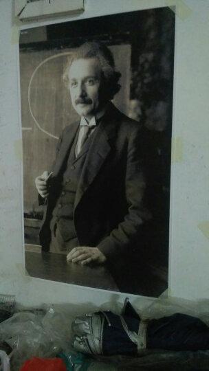 居梦坞 爱因斯坦经典照片 想象力比知识更重要海报宿舍酒吧咖啡馆装饰墙画装饰海报 NB17086 50*30cm 晒单图