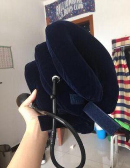 圣迪奥颈椎牵引器 家用旅行充气式 护颈托枕脖子 深蓝(单管) 晒单图
