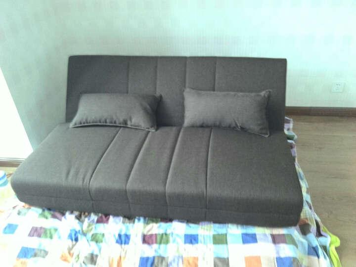 友澳沙发床可折叠多功能榻榻米单双人两用1.5米布艺懒人沙发小户型简易飘窗沙发可拆洗简约现代 0.8米米白色 宽度150CM(三人) 晒单图