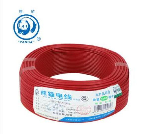 熊猫电线BV1.5平方电线电缆线铜线 照明线 单芯硬线 蓝色 50米绕包 晒单图
