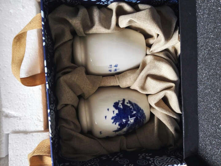 万瓷朝宗 陶瓷茶叶罐迷你密封瓷罐 香粉罐 香料罐 小药罐花茶罐小号储物罐迷你高白瓷青花瓷罐 小平头任意4个不带礼盒 晒单图