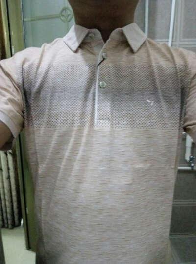 柒牌男装短袖T恤POLO衫男休闲翻领棉t恤112T50240 粉橙 170/88A(M) 晒单图