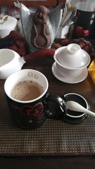 HELLO KITTY(凯蒂猫) 马克杯带盖带勺 咖啡杯水杯男创意牛奶杯哑光陶瓷情侣杯子可爱茶杯 豹纹 晒单图