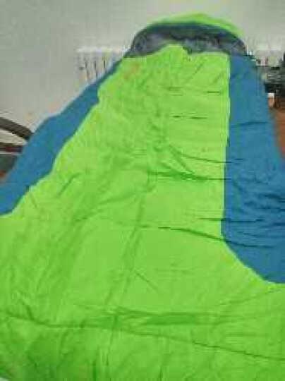 探路者秋冬新款户外男女便携式旅行保暖棉睡袋ZECF90806 湖蓝/铁蓝灰 200*80cm 晒单图