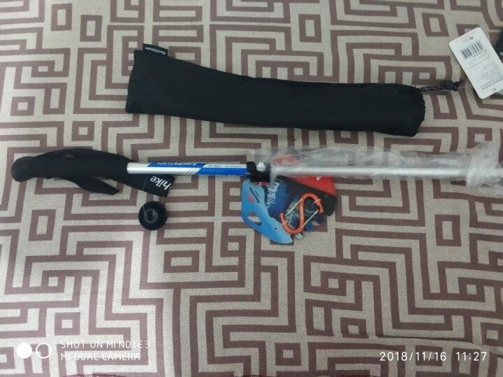 NH登山杖 5节伸缩折叠手杖 135cm户外徒步7075铝合金减震登山拐杖 蓝色1只装 晒单图