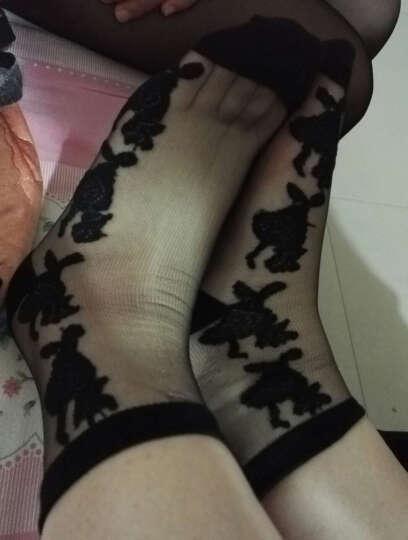 鹿人韩国水晶冰丝玻璃丝短袜透明玫瑰花女袜子 春夏薄款  多种花色任意选6010 花色二十 均码 晒单图
