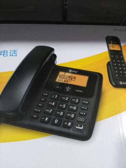 AT&T 34109  数字无绳子母机  家用办公 电话机 有线固定老人机 白色一拖一 晒单图