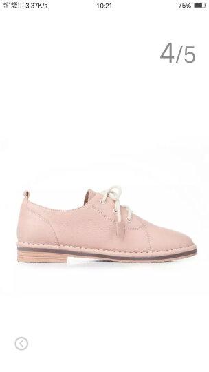 Tata/他她女鞋系带牛皮小白鞋低跟百搭单鞋2WC20CM7 黑色 36 晒单图