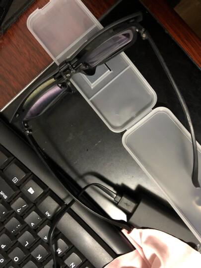 陌龙(Molong)时尚男女士情侣近视太阳镜夹片式墨镜眼镜夹片偏光夜视镜806 黑框黑灰片 晒单图
