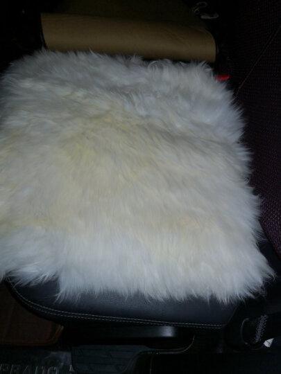 恒源祥 秋冬季澳洲羊毛通用汽车坐垫沙发长羊毛羊皮毛一体座垫汽车坐垫单片 白玉-象牙白 晒单图