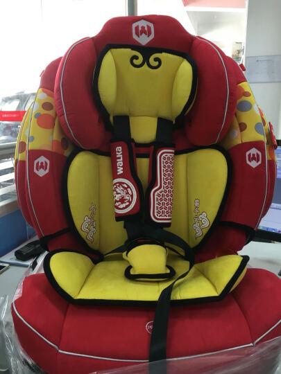 儿童汽车安全座椅 婴儿9个月-12岁 加强型侧翼防护 大圣红 晒单图
