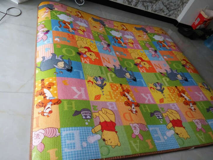 DISNEY 迪士尼  双面加厚2cm宝宝爬行垫婴儿爬爬垫防滑地垫 2厘米米奇爱运动+维尼多彩世界 晒单图