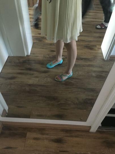 Crocs卡骆驰休闲女鞋 女士海滩帆船系带沙滩洞洞鞋凉鞋雨鞋/14261 浅湖蓝/深蓝-4DP W5 晒单图