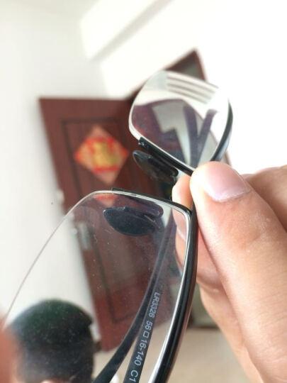 太阳镜眼镜 双插孔插口式硅胶鼻托叶特种防滑双卡口鼻垫透明色和黑色 黑色 晒单图