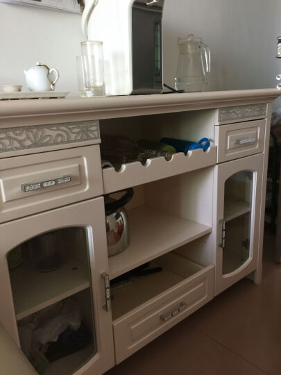 易达彼思 欧式餐边柜橱柜厨房 柜 现代简约 茶水柜碗柜储物柜酒柜 晒单图