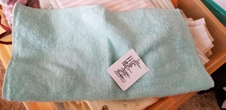UCHINO内野80支棉花糖方巾全棉宝宝吸水柔软纯棉成人男女儿童小毛巾 蓝绿 晒单图