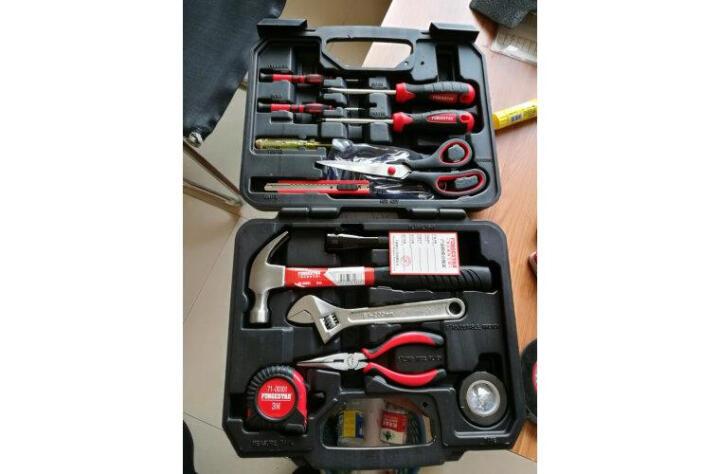 福吉斯特(Forgestar)家用五金工具维修工具组套23件多功能机修工具箱组合电工木工套装 晒单图