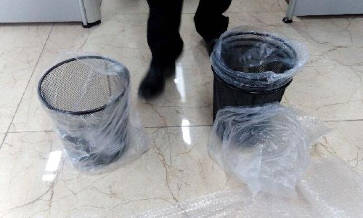 蕊之魅 黑色简约垃圾桶金属网面废纸篓无盖 大号*5个 铁丝网垃圾篓 晒单图