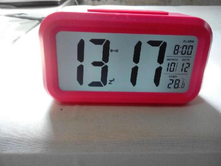 琪特 创意懒人聪明座钟 LED夜光电子闹钟第二代6021C 粉色 晒单图