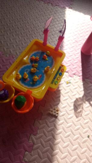 贝恩施(beiens)早教益智玩具 儿童磁性钓鱼玩具电动旋转带音乐可装水套装Y68016黄色 晒单图
